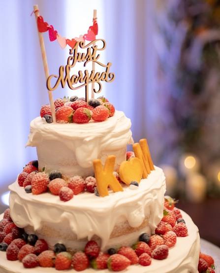 ウエディングケーキ、ケーキ入刀、オリジナルケーキ