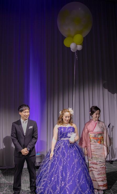 大阪結婚式 心斎橋結婚式 バルーン演出