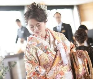 和装結婚式 和婚 色打掛
