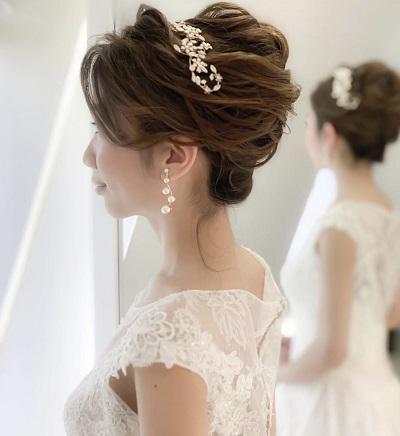 花嫁へア、ブライダルヘア、挙式ヘア