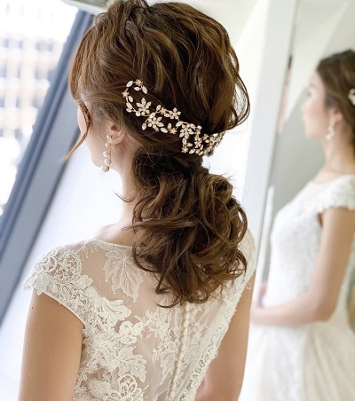 花嫁ヘアアレンジ、ブライダルヘア