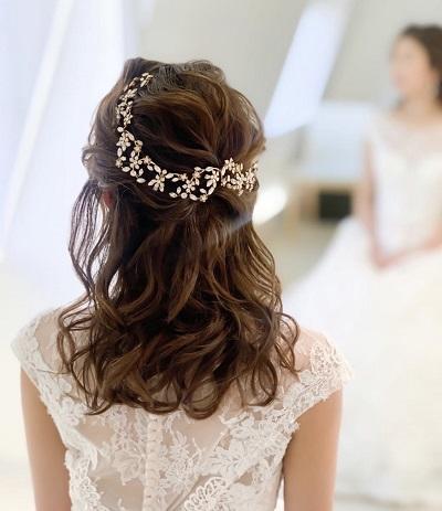 花嫁ヘア、ブライダルヘアメイク