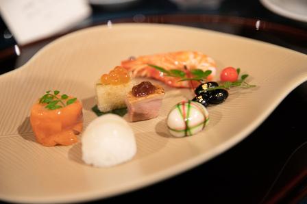 婚礼料理 ウエディングコース 和洋折衷 手毬寿司