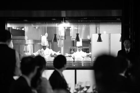 オープンキッチン 大阪ホテル 披露宴