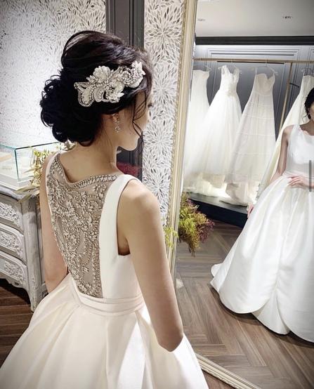 花嫁ヘア ヘアスタイル ウエディングドレス