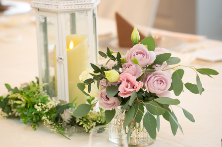 テーブル装花 キャンドル