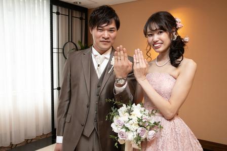 結婚指輪 ウエディングブーケ