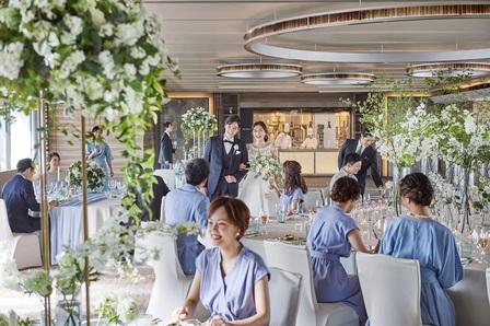 大阪ウエディング、披露宴会場、歓談