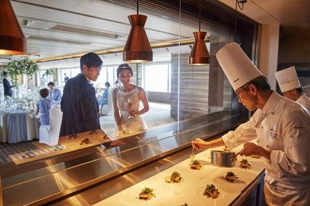 オープンキッチン、心斎橋ウエディング