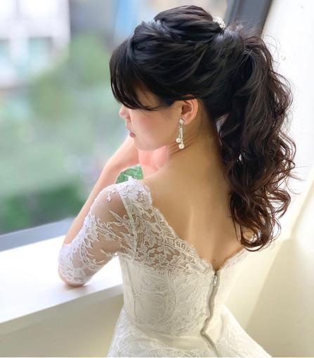 花嫁ヘア、花嫁ヘアスタイル