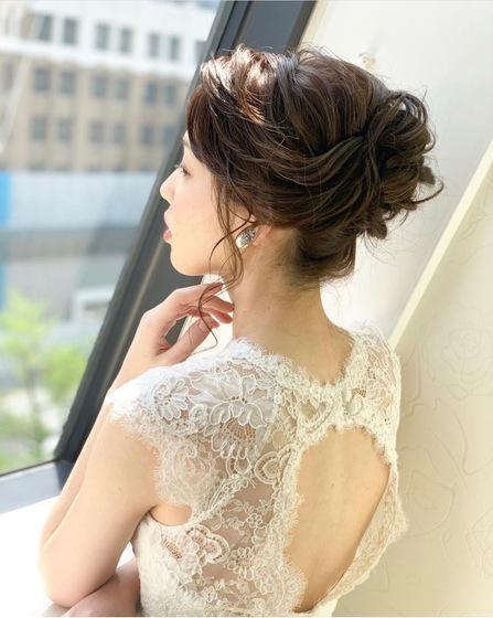 花嫁ヘア。花嫁ヘアスタイル