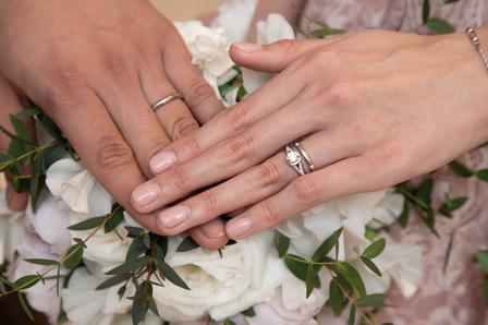 結婚指輪、婚約指輪、エンゲージリング、エンゲージカバーセレモニー