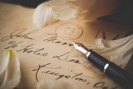 手書きメッセージ、手紙、手書き
