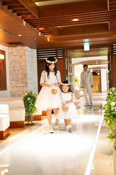 結婚式 子供 演出 フラワーガール 花冠 子供用ドレス