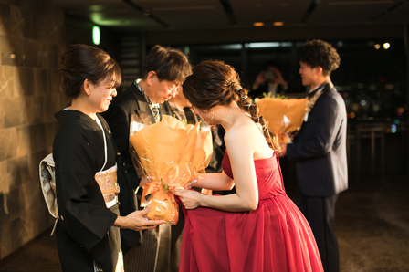 花束贈呈、記念品