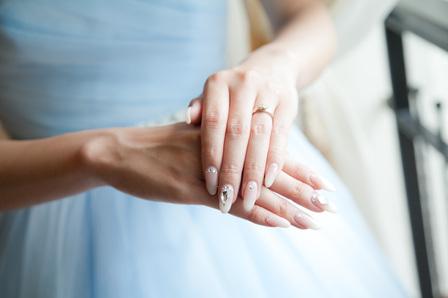 花嫁ネイル、ジェルネイル